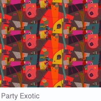 exotic party fabric