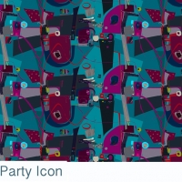 icon party fabric