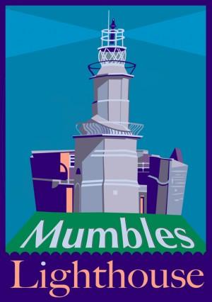 mumbles lighthouse postcard small