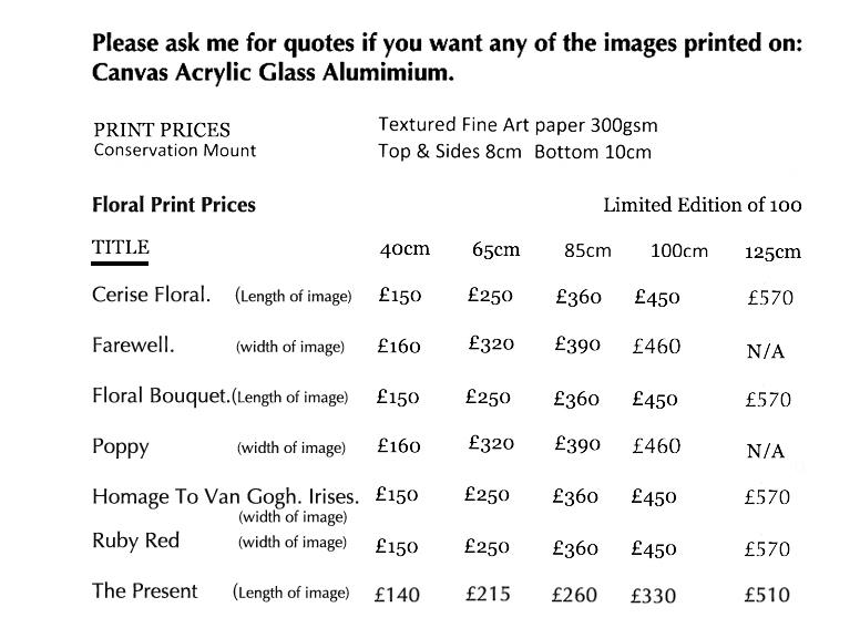 flroal print prices