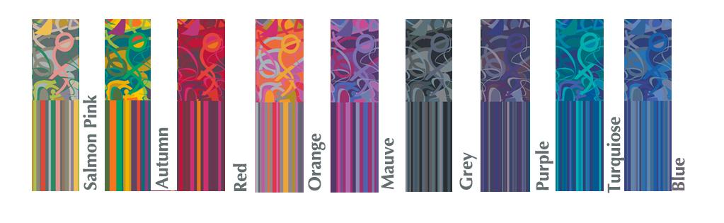 colour chart choice exuberance
